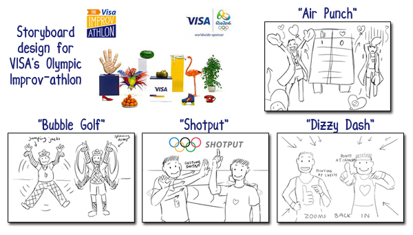 VISA Improv-athlon shown throughout the Rio 2016 Olympics on Facebook