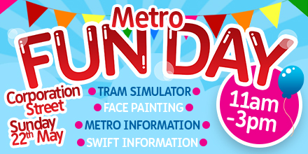 Twitter advertising post for Metro Fun Day